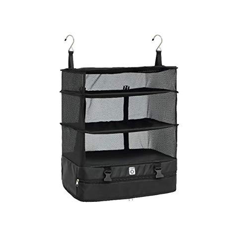 Ba30DEllylelly Bolsa de almacenamiento de viaje portátil Gancho Organizador colgante Armario Estante de almacenamiento de ropa Estantes de maleta de viaje