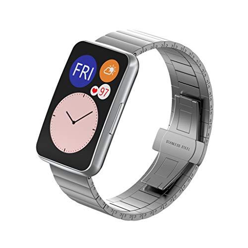 ATATMOUNT Correa de Reloj de Pulsera de Acero Inoxidable, Correa de muñeca para Reloj Huawei, Accesorios Inteligentes