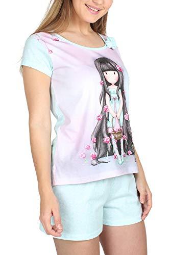 Santoro Pijama Manga Corta Rosebud para Mujer