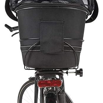 TRIXIE Panier pour vélo pour Porte-Bagages étroits Noir 29 x 42 x 48 cm