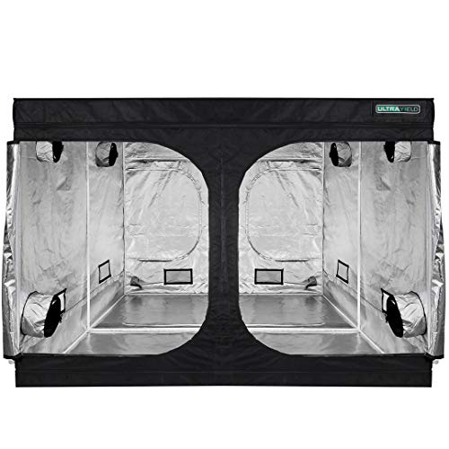 """ULTRAYIELD 120""""x120""""x80"""" Grow Tent - 600D Mylar Professional Indoor Growing Tents - Use for Hydroponics Growing System - 10x10 Grow Room"""