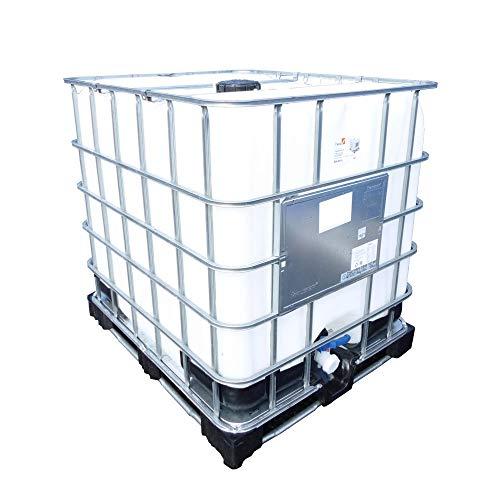 Oipps IBC mittelgroßer Behälter für Wasserspeicher, Chemikalien, Outdoor, Garten, Bewässerung Bau, weiß, 1000 litres