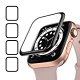 Oielai Lot de 4 films de protection d'écran HD pour Apple Watch Series SE/6/5/4 44 mm Transparent...