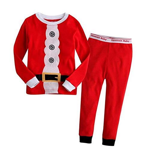 ANBANG Weihnachtspyjamas Für Kinder Cotton Boy Santa Claus Weihnachtspyjamas Kinder...