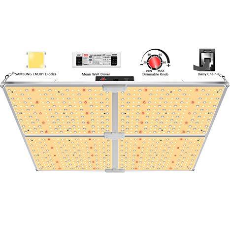 SYLSTAR Lámpara LED para plantas, espectro completo, GL-4000, lámparas LED para plantas con Samsung LM301 y controlador MeanWell, 450 W LED Grow Light LED para plantas hidropónicas, verduras, flores