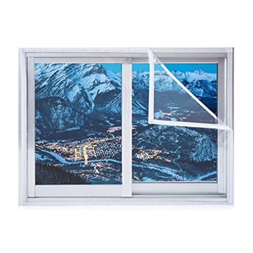 HZWDD PVC Window Insulation Kit Winter Bedroom Windproof Warm Household Seal Insulating Film Reusable, Custom Size Tarpaulin