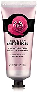 The Body Shop Hand & Nail Cream British Rose Petal-Soft 100ml - for skin moisture and softer