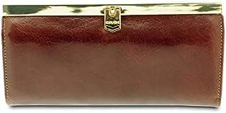 GIUDI ® Portafoglio donna in pelle vacchetta, vera pelle, portamonete, portatessere, portadocumenti, portacarte, Made in I...