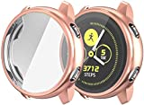 [Compatible Models]: Perfectly fit for your Samsung Galaxy Watch Active 2 44mm Smartwatch. Easy to install and to remove, accurate holes cutouts access to all controls and sensors, firm and not easy to fall. [Full Protection]: This compatible Samsung...