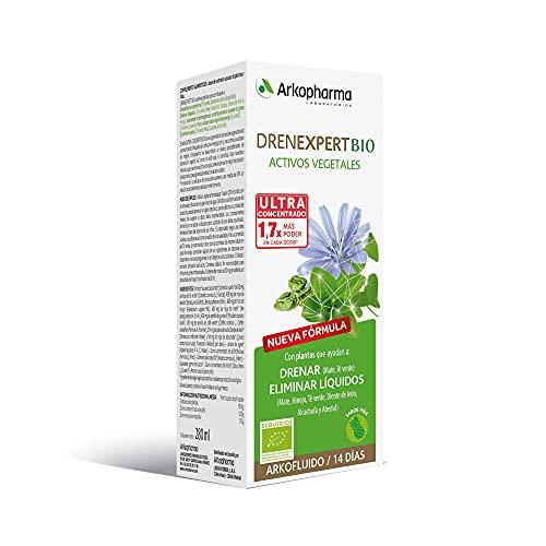 Arkopharma Drenexpert BIO 280ml ,Activos Vegetales, Control de peso, Drenante y Detoxificante, Elimina Líquidos y Contribuye a la Quema de Grasa + Asesoramiento Nutricional, Complemento Alimenticio