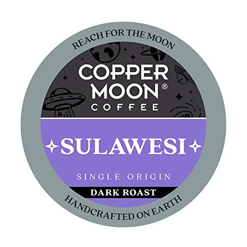 Copper Moon Sulawesi Origin, Dark Roast Coffee Pods Compatible with Keurig K-Cup Brewers, 12 Count