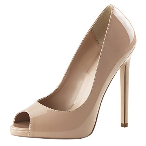 Pleaser SEXY-42, Damen Pumps, Beige (Cremefarben (Nude Pat)), 39 EU (6 Damen UK)