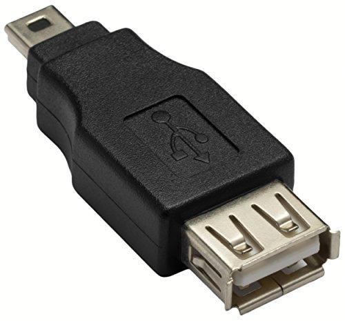 mumbi Adapter Mini USB auf USB Stecker - Adapter USB-A Buchse auf Mini USB 5 pol/Stecker