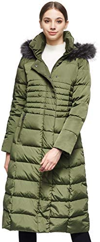 Women s Long Puffer Down Coat Warm Maxi Jacket with Hood ArmyGreen product image