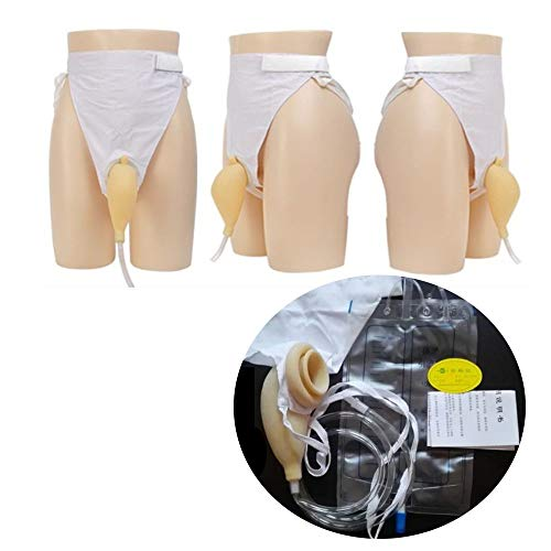 Female/Male Urinal Urine Collector Container Wearable Bag Portable Comfort Reusable Urinator Catheter Pee Bag Kit (Male)