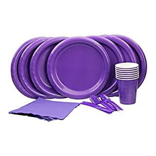Party Lovers Premium Party Supplies Disposable Dinnerware Set - 20pc Includes Yellow Dinner Plates, Cutlery, Tablecloth Napkins and Cups - Birthday Paper Tableware Collections (B00MGW9MEK) | Amazon price tracker / tracking, Amazon price history charts, Amazon price watches, Amazon price drop alerts