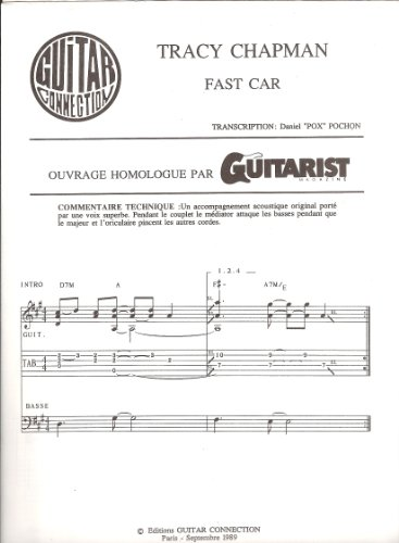 FAST CAR - Guit Tab & Sol (GUITAR CONNECTION) Transcription D Pochon (feuillet)