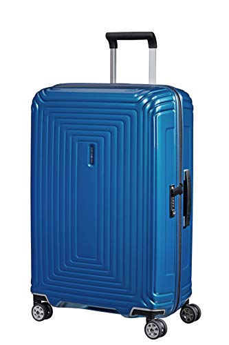 Samsonite Neopulse - Spinner M Koffer, 69 cm, 74 L, Blau (Metallic Intense Blue)