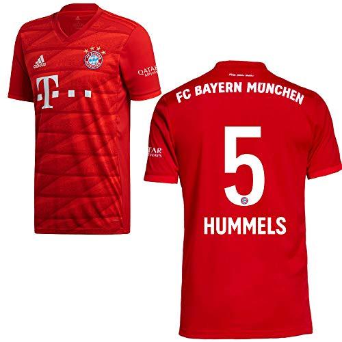 adidas FCB FC Bayern München Trikot Home Heimtrikot 2019 2020 Herren Hummels 5 Gr L