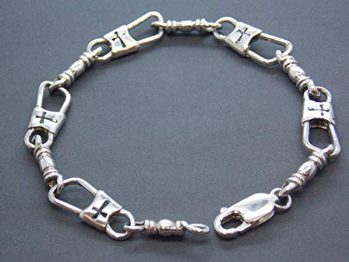 ACTS Bracelet Fishers of Men Sterling Silver MEDIUM LINK, Horizontal Maltese Cross Design!!