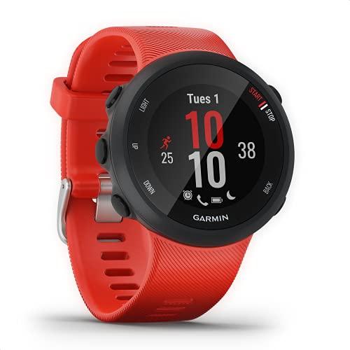 Garmin Forerunner 45 – GPS-Laufuhr mit umfangreichen Lauffunktionen, Trainingsplänen, Herzfrequenzmessung am Handgelenk, Smartphone Benachrichtigungen