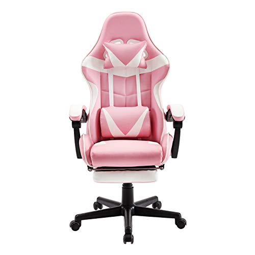 Soontrans Pink Recliner Computer Chair Lovely Deak Chair for...