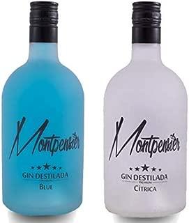 Pack Montpensier Gin Premium Blue & Cítrica - Ginebra Premium realizada en Andalucía de manera artesanal con 5 destilaciones, 10 botánicos y alcohol de grano 100% - 70cl