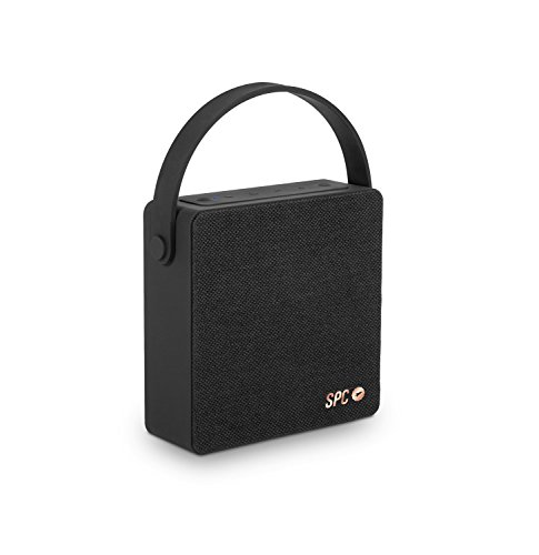 SPC Big One Speaker negro con acabado en tela y 8 watios de potencia