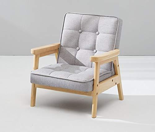 BunnyTickles Kindersofa, Kindersessel Kindercouch Sofa Kindermöbel, Einzelsofa, Massivholz, Farbe: Grau