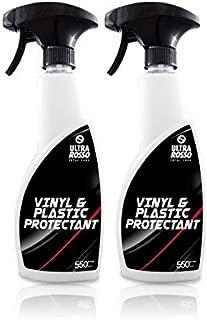 Ultra Rosso Vinyl & Plastic UV Protectant Spray - Car Interior Cleaner for Vinyl, Plastic, Leather & Rubber Upholstery, Conditioner & UV Protectant for Cars, Boats & Trucks - 18 Oz Bottle- 2 Pack
