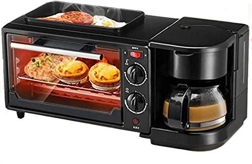 Tienda Máquina de desayuno multifunción con mini horno eléctrico de tostadora, 3 en 1 estación de desayuno, sartén, desayuno, huevo, sándwich, fabricante