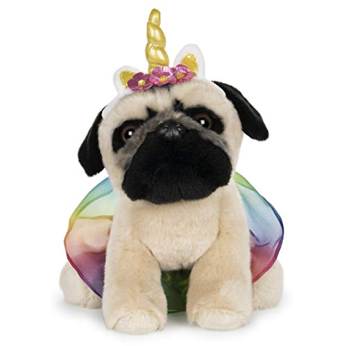 GUND Doug The Pug Unicorn Tutu Dog Stuffed Animal Plush, 9""