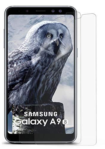 moex Anti Reflex Bildschirmschutzfolie kompatibel mit Samsung Galaxy A9 (2018)   Schutzfolie Matt Bildschirm Folie gegen Reflexionen, flexibel, 2X Stück