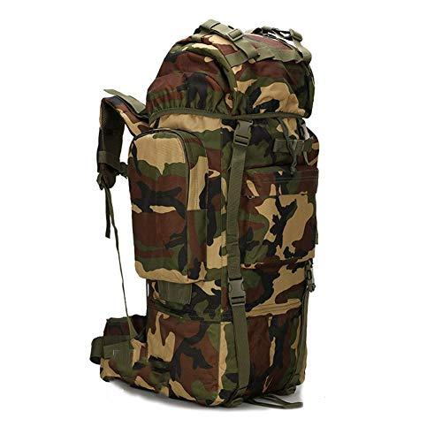 Ssszx Trekkingrugzak, 65 liter, grote capaciteit, camping, tactische reizen, trekkingrugzak, met regenbescherming, wandelen, bergbeklimmer, rugzak