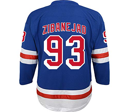 Outerstuff Mika Zibanejad New York Rangers #93 Blue Youth 8-20 Home Replica Player JEersey (Large/X-Large 14-20)