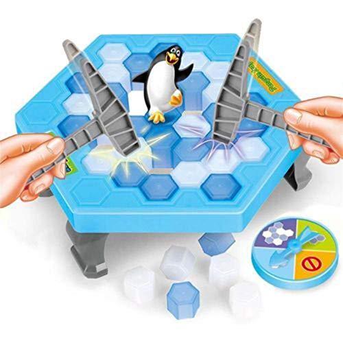 Juego De Mesa De Rompecabezas, Salva Pingüinos, Rompecabezas, Desarrolla La Imaginación Y La Creatividad De Los Niños, Juego Interactivo De Escritorio para Padres E Hijos (Azul)