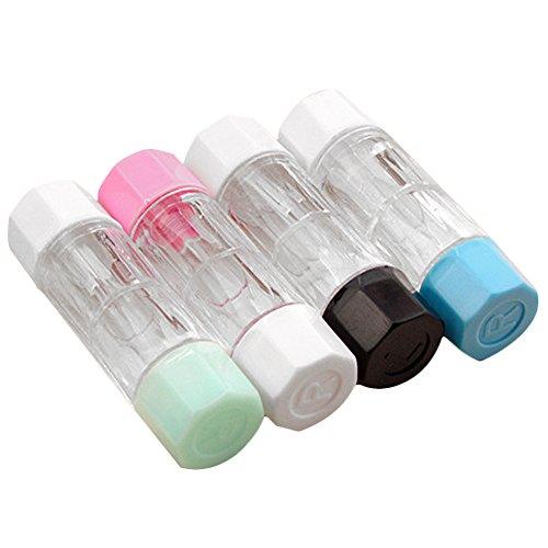 Vococal 4 Stk 4 Farben Mini Reisen RGP Kontaktlinsenbehälter Harte Kontaktlinsen Case