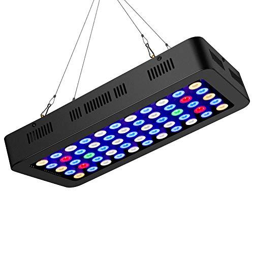 Luci LED Acquario 165w con Manopola di Regolazione Plafoniera LED Acquario Adatto a per Acquario Pesci Marino Tropicali