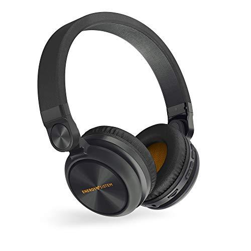 Energy Sistem Headphones BT Urban 2 Radio Black (Auriculares inalambricos, Reproductor MP3 microSD, Radio, Bluetooth) Negro