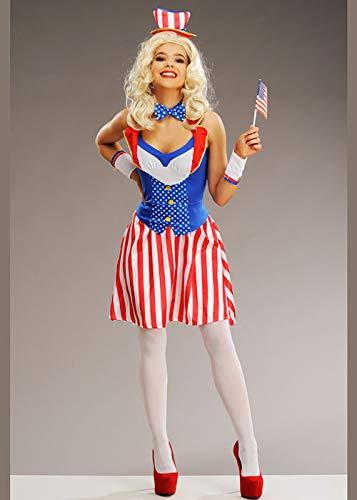Magic Box Frauen Miss America Uncle Sam USA Kostüm M/L (UK 12-14)