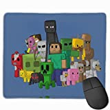 Mouse Pad with Mine Funny Game Craft Pattern No-Slip Durable Gaming Mouse Mat Thickened Design Waterproof Stitched Edges and Rubber Base for Office Home Travel Use(11.8x9.8 inch)