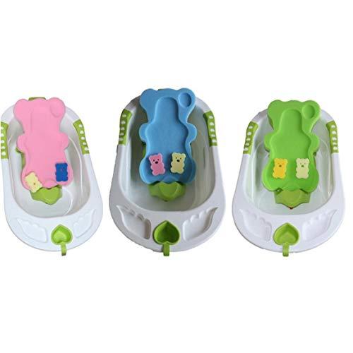 1PC Baby-Bad-Kissen Neugeborenes Bad Antirutschkissen Sitz Bequemer Baby-Badeschwamm Badewanne Pad Dusche Bett für Säuglings- Jungen und Mädchen (Random) Babypflegeprodukte
