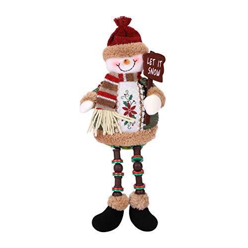 Kerstmis Pluche Speelgoed Zittend Kerstman Sneeuwman Rendier Pop Kerstmis Ornament Lange Benen Tafel Open Haard Decor Kerstboom Topper Xmas Figurines Vakantie Thuis Decor met Gratis Bal Hanger