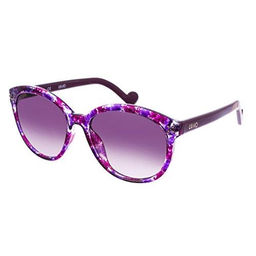 Liu Jo LJ642S 518 56 Occhiali da Sole, Viola (Purple Violet Camouflage), Donna