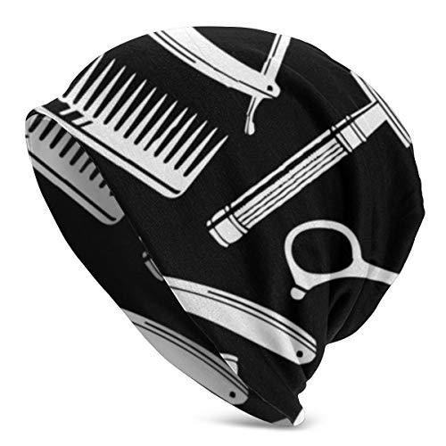 Vintage Barber Tools Muster Beanie Schädel Strick Manschette Beanie Cap Mens Womens