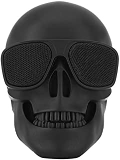 Skull Speaker Portable Bluetooth Wireless Speakers Retro Emoji Bass Stereo for PC/Laptop/Mobile Phone/MP3/MP4 Player for H... photo