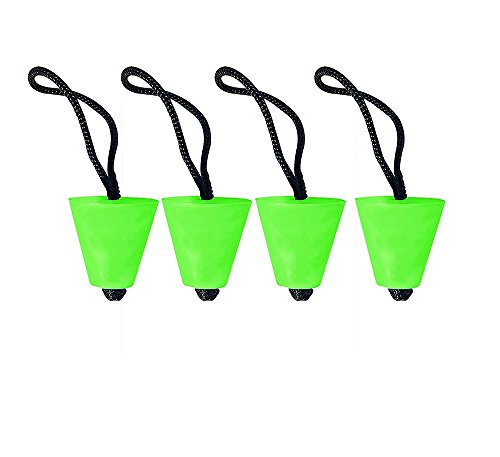 """Yundxi Universal Kayak Scupper Plug Compressible Rubber Stopper with Pull String Fits Holes Between 3/4"""" to 1.5"""" (Green- 4pieces)"""