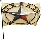 Flagge/Fahne Western Texas Stars Yard Flags All Weather Decorative Flag Lightweight Brass Grommets Flag 100% Single-Layer Translucent Polyester 3x5 Ft Garden Flag for Indoor Outdoor Home...