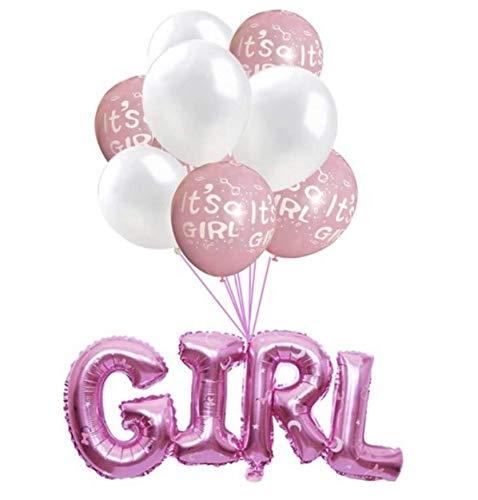 Babyshower Versiering Pakket - It's a Girl - 9 stuks - Luxe Baby Shower Helium Balonnen Set - Baby Girl Folie Ballon - Geboorte Feest Cadeau Meisje