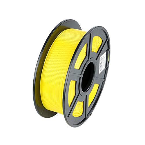 VOM PLA Filament 1,75mm +/- 0,02 mm, 1kg Filament-3D-Druckmaterialien 3D Drucker Filament für 3D Drucker/ 3D Stift, Verwicklung frei/Vakuumverpackung, 6 Farben (Gelb)